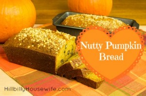 Sliced pumpkin bread made with nuts
