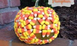 Candy Corn Covered Pumpkin