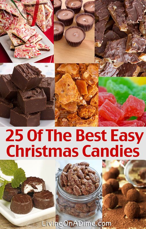 25 Easy and Frugal Christmas Candy Recipes