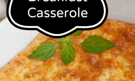 Slowcooker Breakfast Casserole with Eggs Bacon and Potatoes
