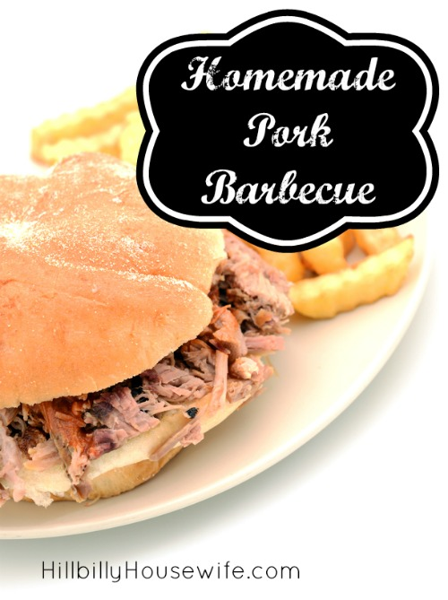 Homemade Pork Barbecue sandwiches