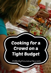 Great tips for cooking for a crowd on a budget.
