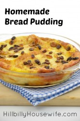 Dish of Homemade Bread Pudding