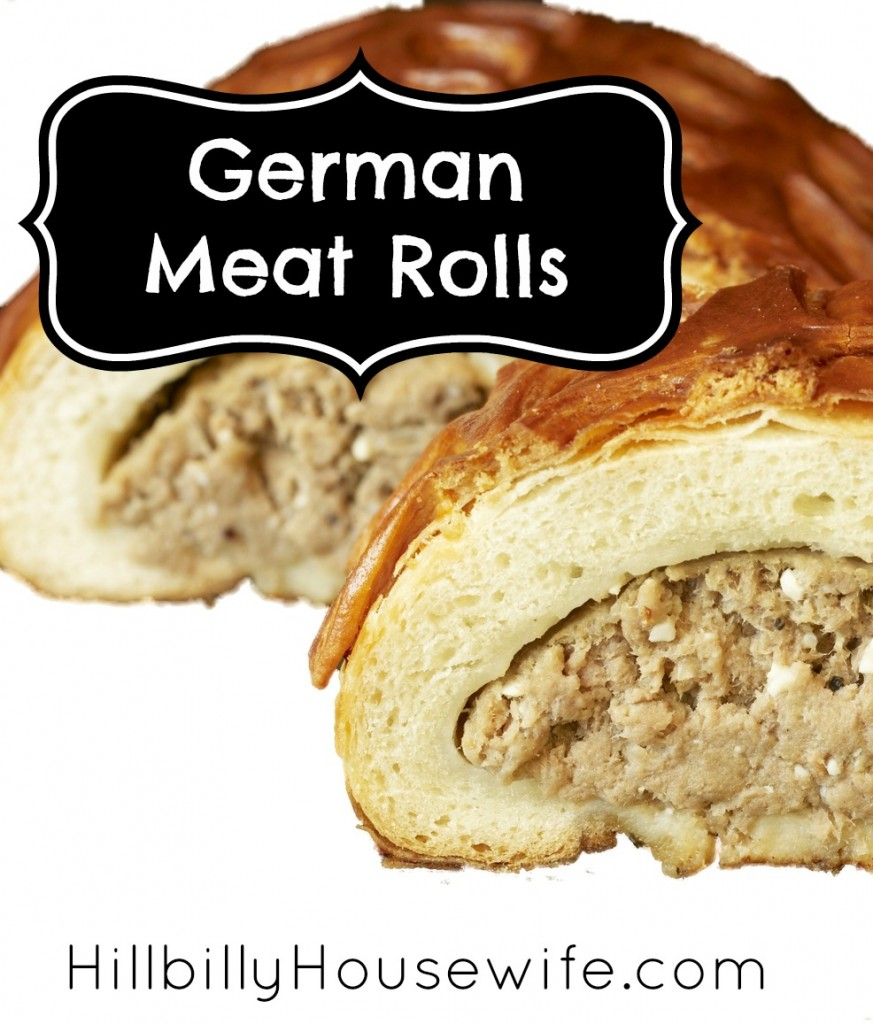 Meat rolls filled with a mixture of ground beef, onion and cabbage