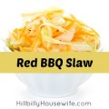 Bowl of red bbq slaw