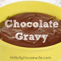 Bowl of Homemade Chocolate Gravy