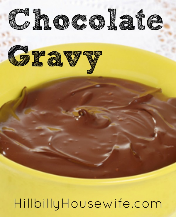 A bowl of old fashioned chocolate gravy. Whip up a batch and serve it over hot biscuits.