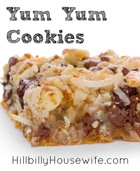 Cookie Bars with coconut and chocolate chips