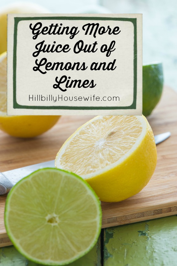 Getting more juice out of lemons and limes