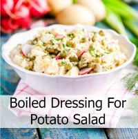 Boiled Dressing on Potato Salad