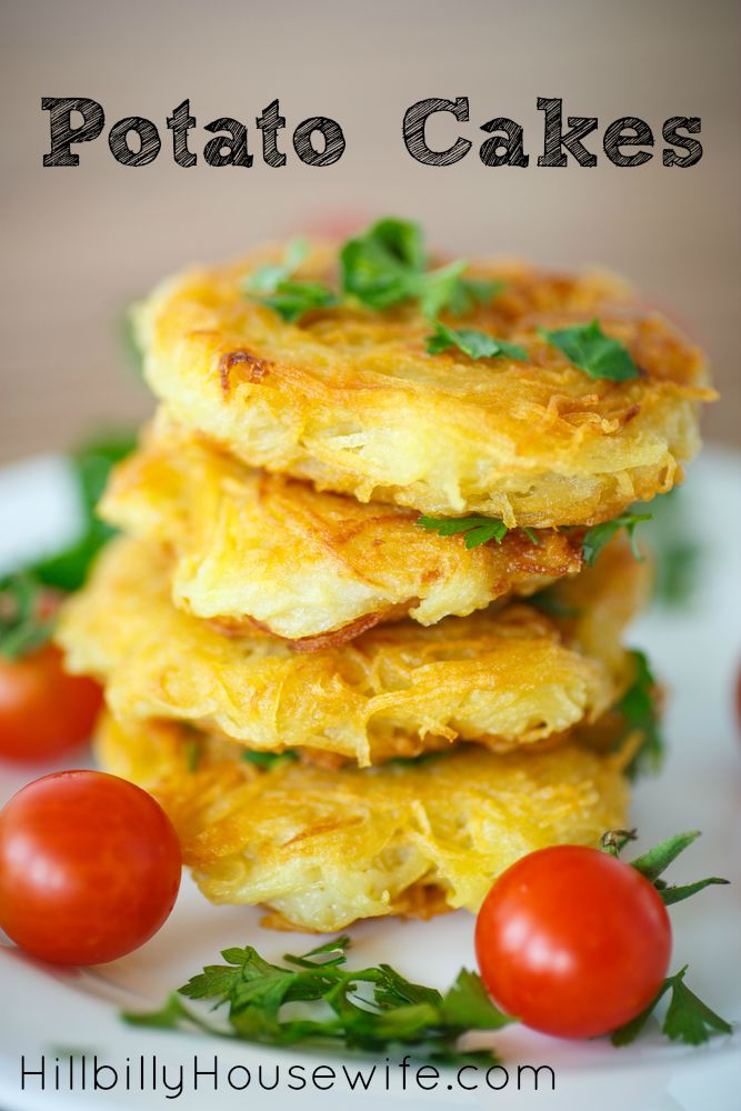 Plate of potato cakes or tater cake.