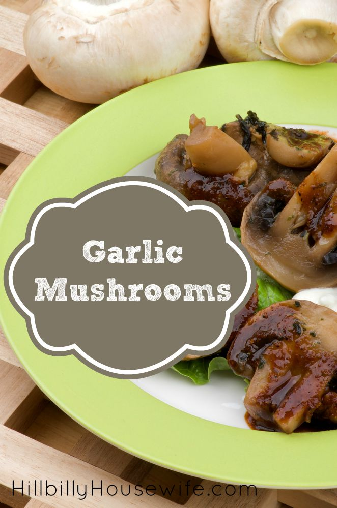 Yummy garlic mushrooms with fresh parsley. You've gotta try this. So easy and tasty.