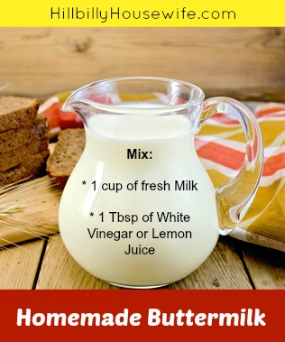 "how to ""make"" buttermilk from sweet milk (soured milk)"