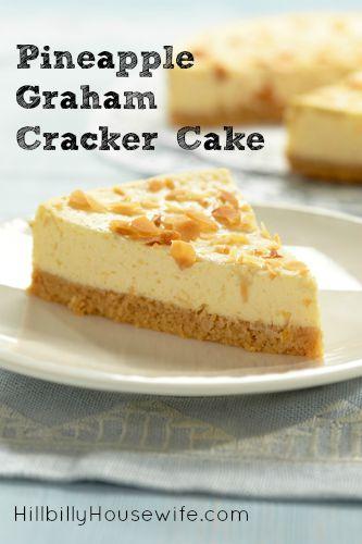 Pineapple Graham Cracker Pie