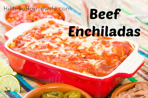 My favorite recipe for making beef enchiladas from scratch.