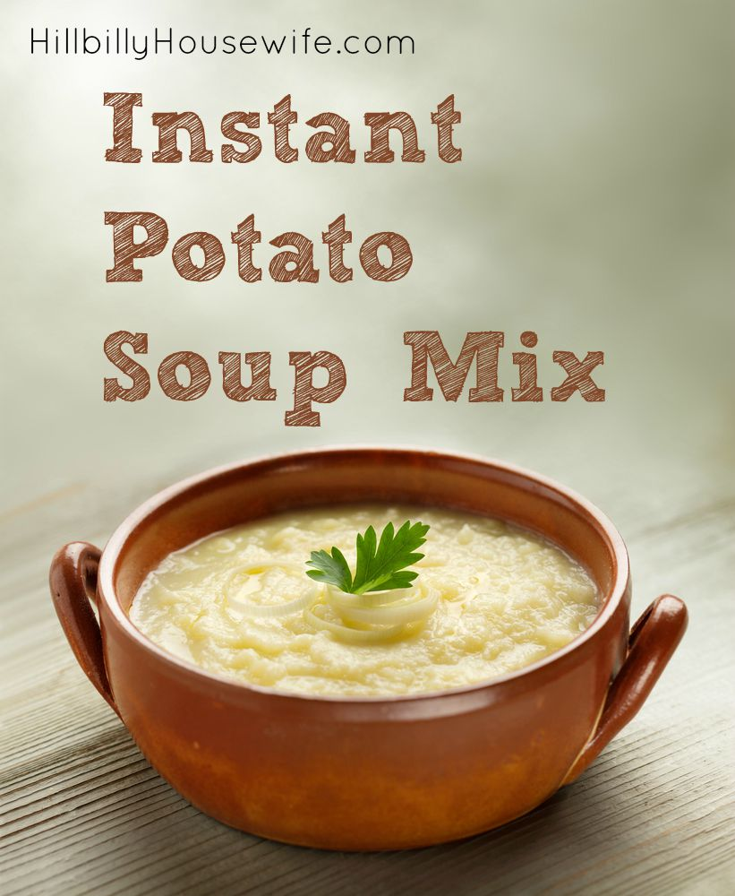 How do you make potato soup with instant potatoes