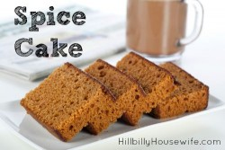 Delicious recipe for homemade spice cake. Great on it's own or frosted.