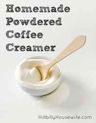 A simple recipe for powdered coffee creamer you can make in your blender.