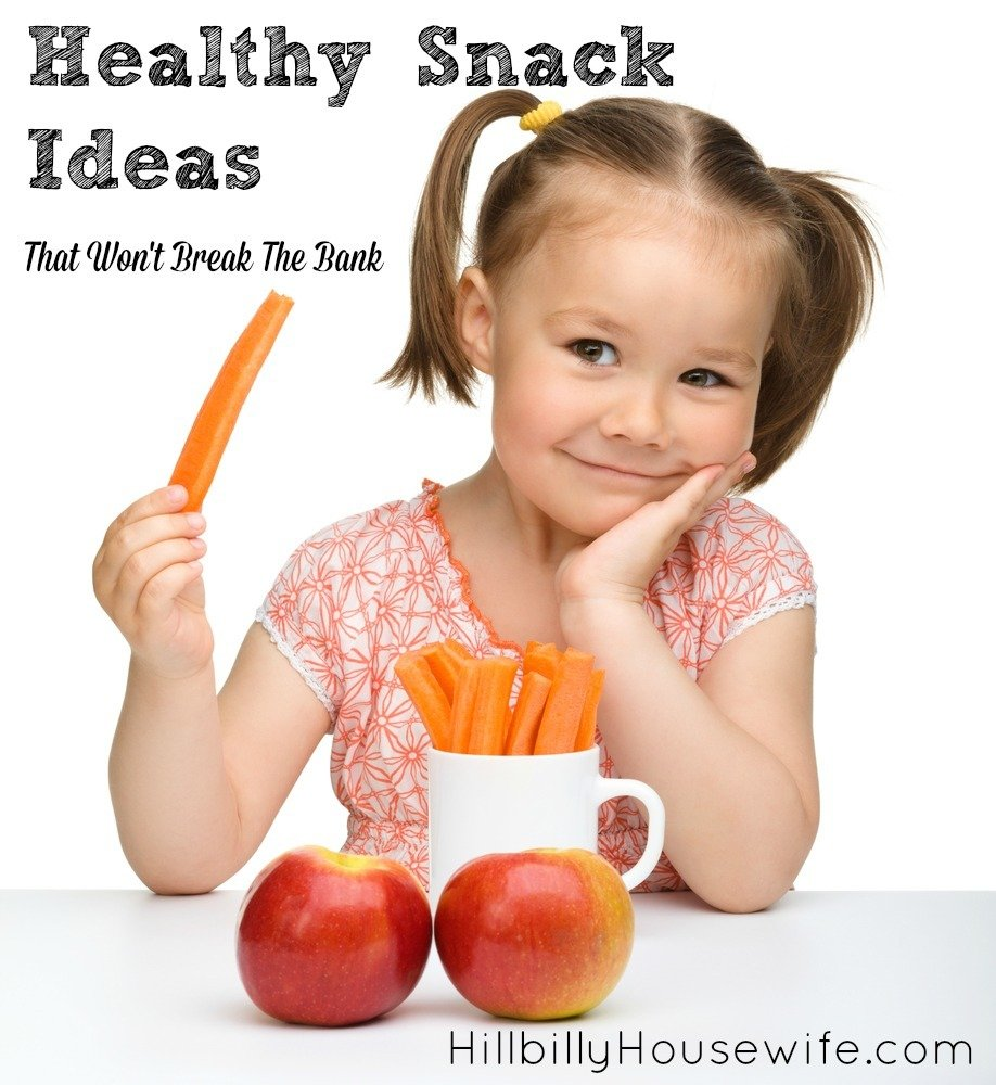 Great snack ideas for hungry kids. Good for you and your wallet.