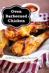 Oven Baked BBQ Chicken - quick and easy dinner.