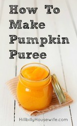 Making your own pumpkin puree for baking pies, making soups and using in various recipes is easier than you think.