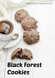 Black Forest Cookies and a cup of coffee.