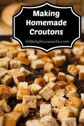 Turn stale bread into delicious croutons.