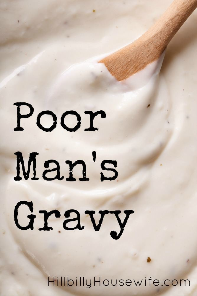 Poor Man's Gravy Recipe