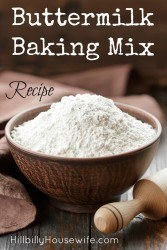 Baking Mix Recipe with Buttermilk to use instead of something like Bisquick.