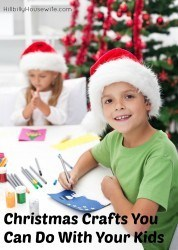 Fun and easy craft ideas to keep the kids busy while they wait for Santa to come. These make cute gifts and decorations too.
