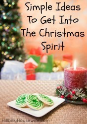 12 Simple ideas to help you get int the Christmas Spirit