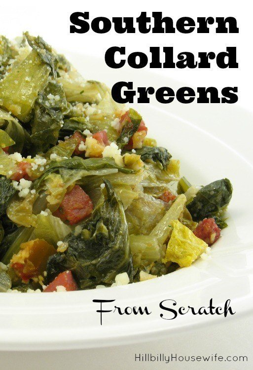 You've gotta try cooking collards from scratch. Such a tasty treat and surprisingly easy to make.