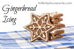 This is the easiest and best way to ice your gingerbread cookies. Works every time - with just two ingredients.