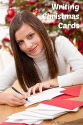 It's time to spread holiday cheer and write some Christmas Cards to loved ones.