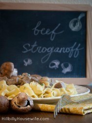 A simple beef stroganoff dish made with ground beef, mushrooms and sour cream or yogurt. Perfect for busy weeknights.