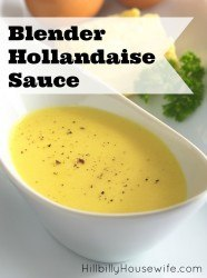 This rich sauce comes together beautifully in the blender. If you've never made homemade hollandaise sauce, do yourself a favor and give this a try.