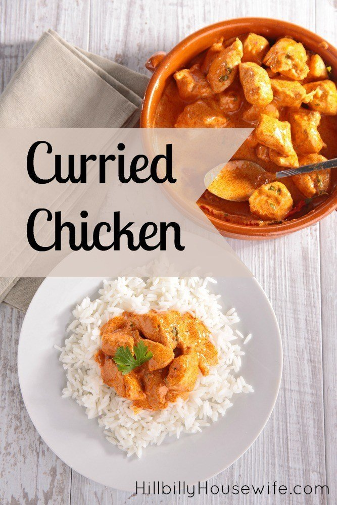 A fresh take on leftover chicken - turn it into curried chicken and serve over rice. Quick and simple weeknight dinner.