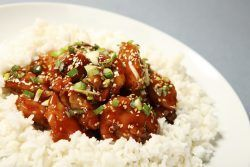 Who knew making Sesame Chicken was this easy. We like this better than takeout.