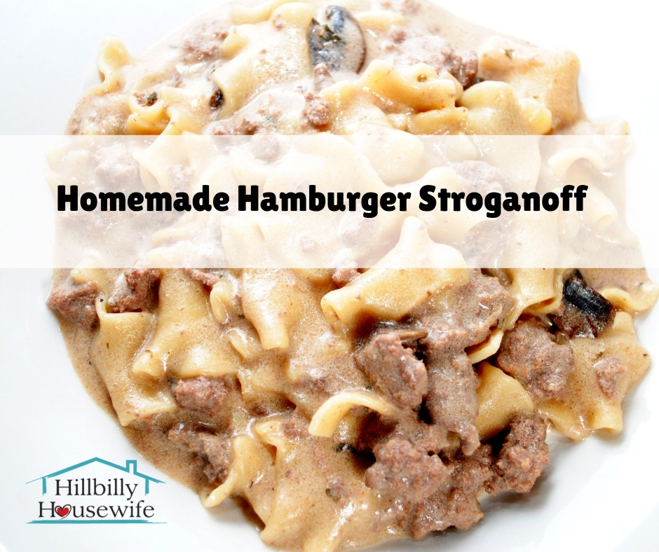 Try this hamburger stroganoff recipe for dinner tonight. Quick, easy, and mighty tasty.