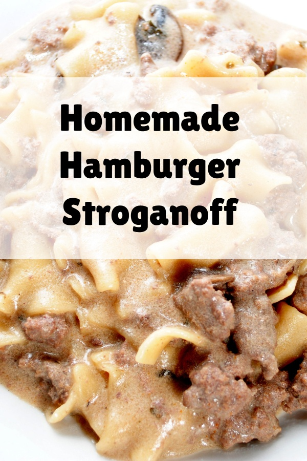 This this simple hamburger stroganoff recipe. Perfect for busy weeknight dinners.
