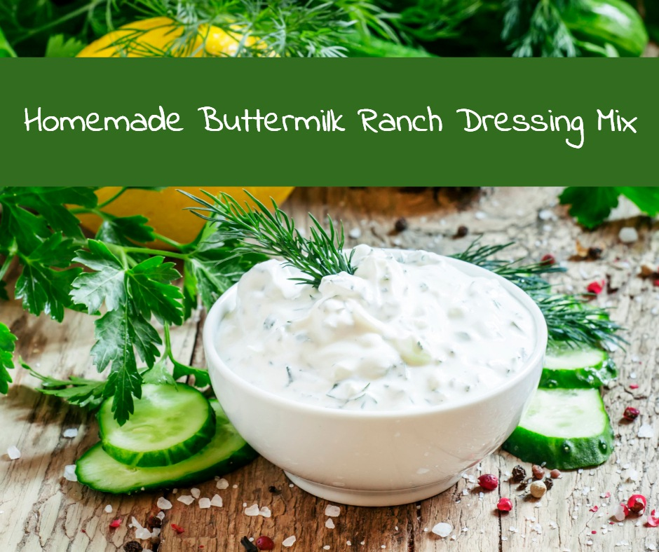 Make a batch of this simple homemade mix and use it in cooking and baking, or to make homemade ranch dressing or dip