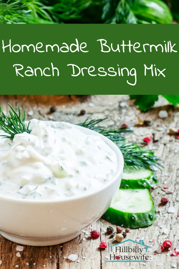 Here's a batch of dressing made using my buttermilk ranch dressing mix.