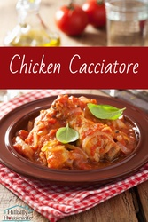 This chicken cacciatore is flavorful and surprisingly frugal. Make it for your family or dinner guests.