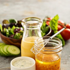 Make up a batch of this creamy italian dressing and try it on your favorite salad or sandwich.