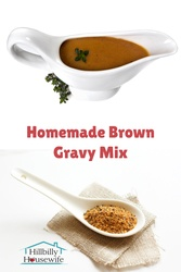 This recipe for homemade brown gravy mix is quick and easy to put together and use. No need to buy gravy mix packets.