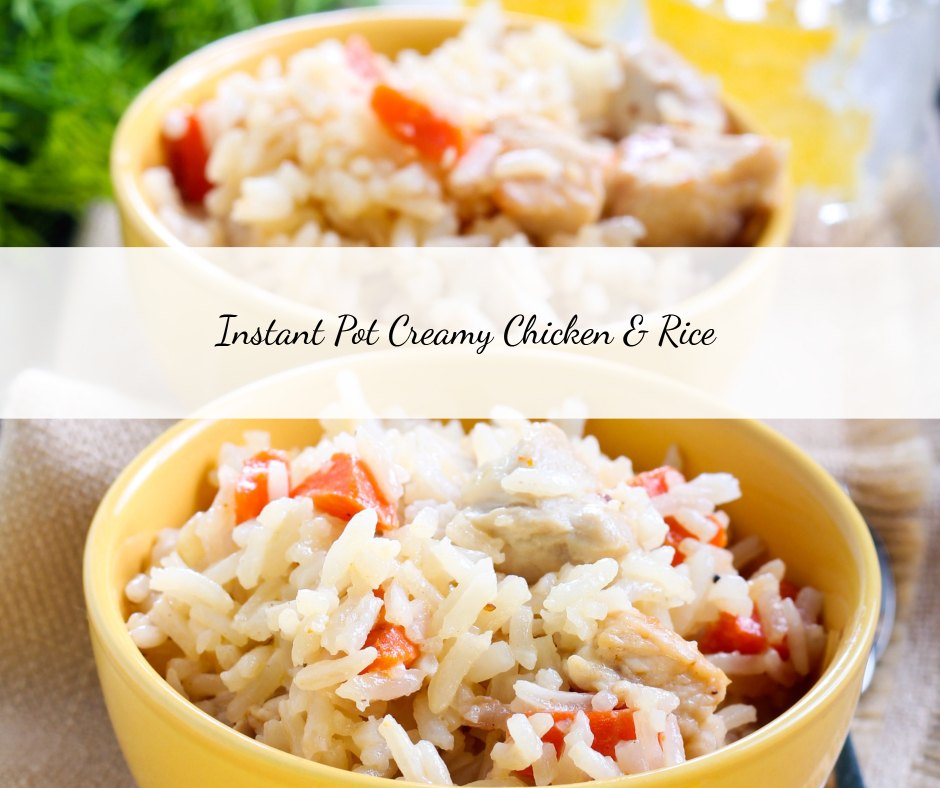 A quick and easy dinner recipe made with chicken, rice, and veggies.