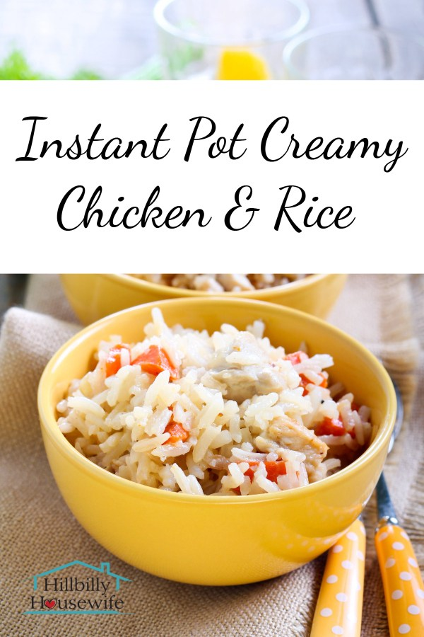 This creamy chicken and rice dish cooks up quickly in the Instant Pot.