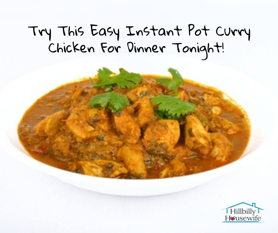 Try this easy instant pot curry chicken for dinner tonight.