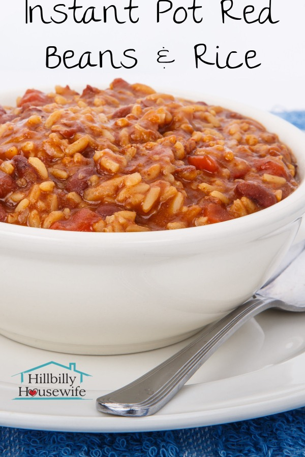 A quick and easy recipe for red beans and rice in the Instant Pot.