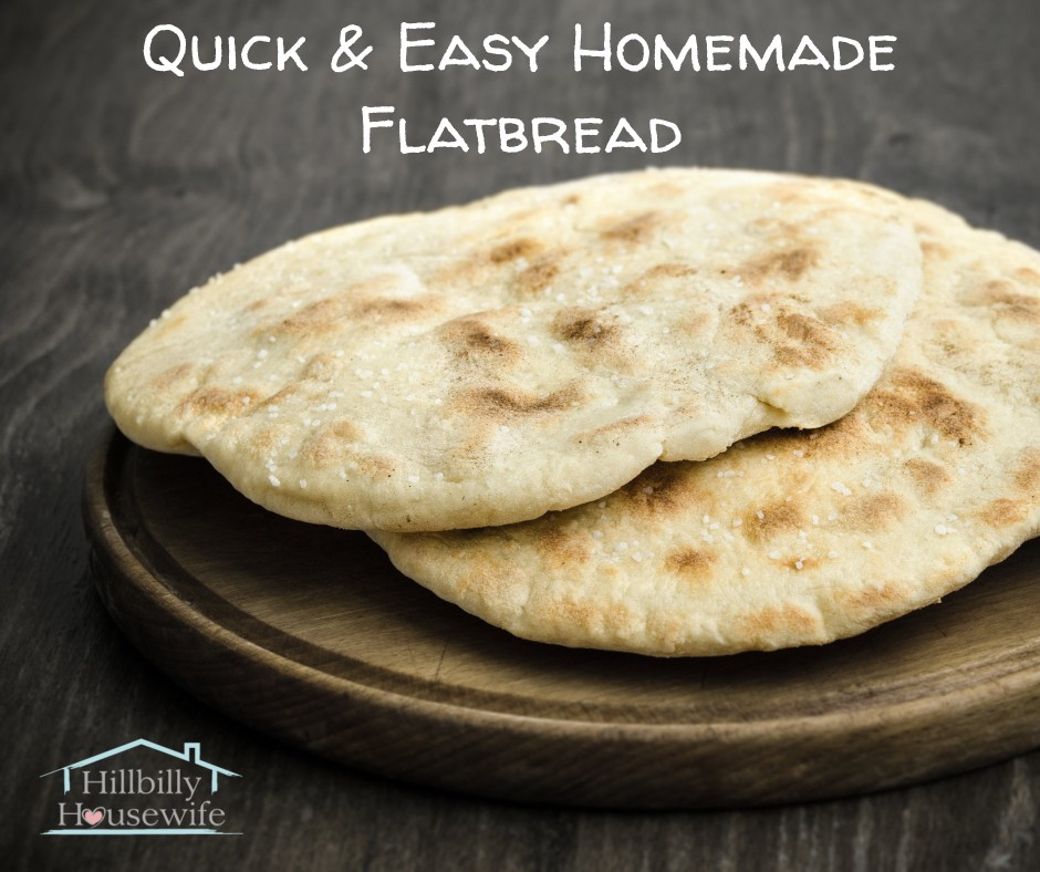 Plate of homemade flatbread